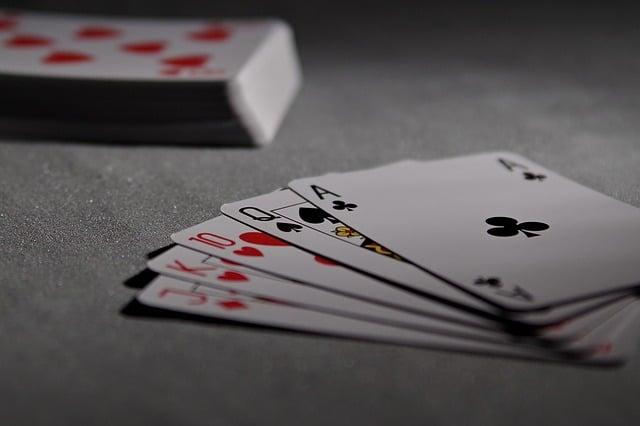 une quinte au poker