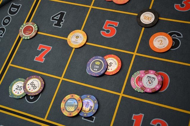 tapis d'une roulette de casino