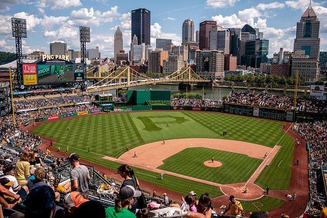lapangan bisbol yang indah