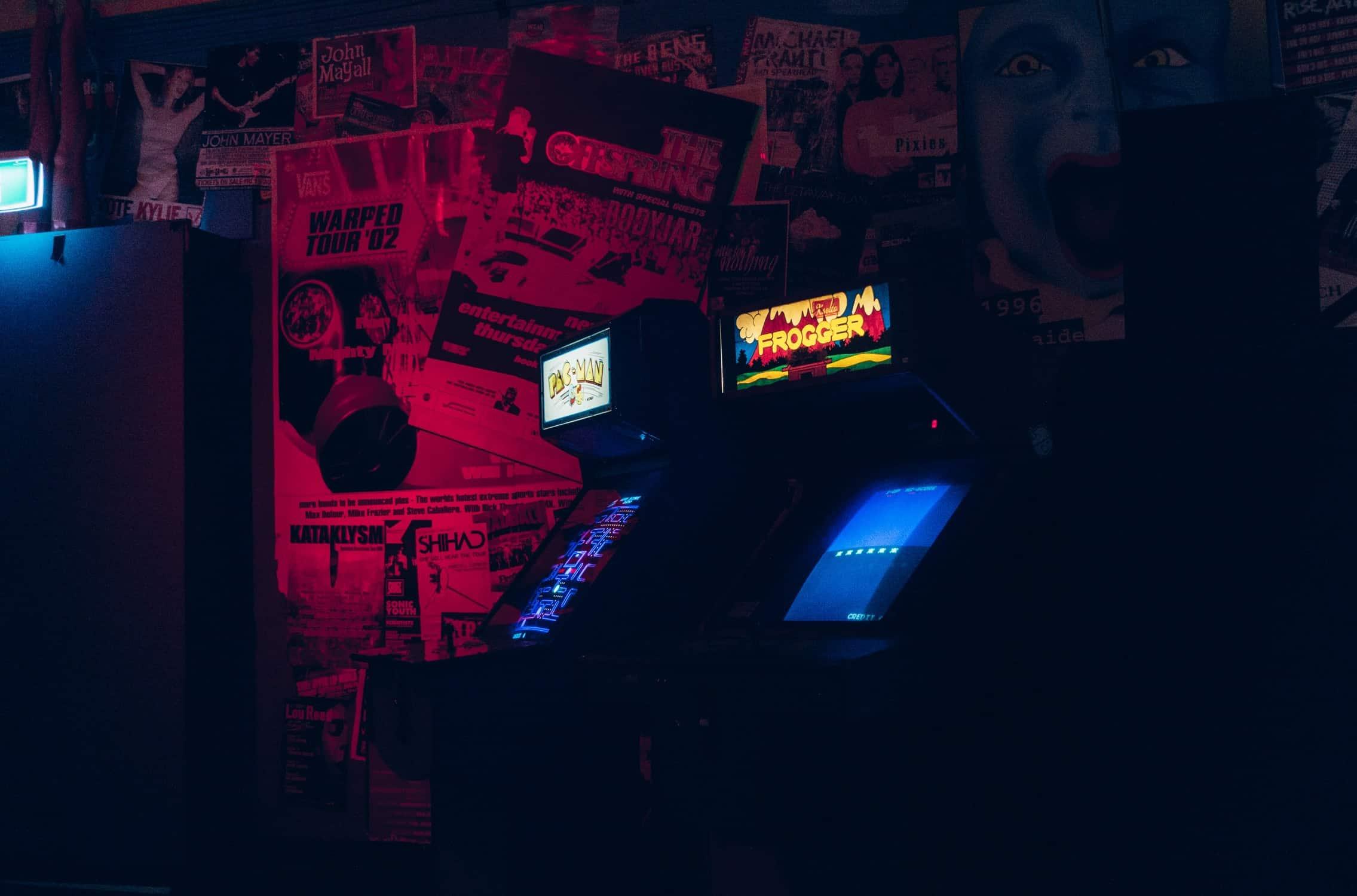 console arcade et machine à sous